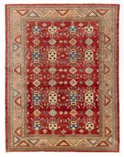 Sale 8760C - Lot 62 - A Super Fine Afghan Kazak Geometric Design 100%Wool And Natural Dyes, 300 x 200cm