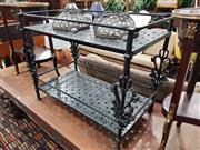 Sale 8769 - Lot 1049 - Black Alloy Metal Tiered Outdoor Table