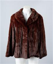 Sale 8828F - Lot 8 - A Dyed Brown Russian Ermine Jacket By Hammerman Furs, Size Medium