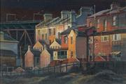 Sale 8838 - Lot 578 - Kenneth Jack (1924 - 2006) - Back of Lower Fort Street, Sydney 1972 18 x 28cm