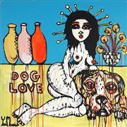 Sale 8853A - Lot 5049 - Yosi Messiah (1964 - ) - Dog Love Blue 102 x 102cm
