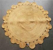 Sale 8912 - Lot 1037 - Modern Round Sisal Rug (DIA: 134cm)