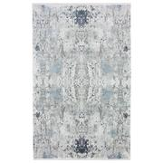 Sale 8912C - Lot 10 - Turkish Woven Space Carpet Collection 01, Silver/Blue, 200x300cm, Viscose/Acrylic