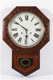 Sale 9010 - Lot 96 - Late Victorian Seth Thomas Wall Clock (L:64cm W43cm)