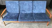 Sale 9022 - Lot 1056 - Vintage Parker Teak Click Clack 3 Seater Lounge (h:71 x w:180cm)