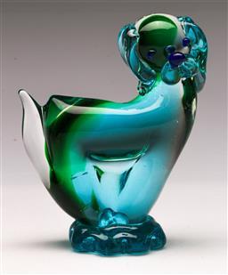 Sale 9131 - Lot 11 - An art glass figure of A dog (H 14cm)
