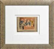 Sale 8286 - Lot 597 - Carl Büchner (1921 - 2003) - Untitled, 1944 (The Meeting) 15 x 20cm