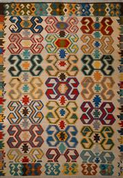 Sale 8455C - Lot 42 - Afghan Chobi Kilim 300cm x 210cm