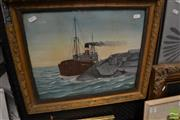 Sale 8464 - Lot 2089 - W. H. Fernyhough (XIX - XX) - Iron Monarch, 1934 34 x 41.5cm