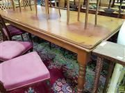 Sale 8562 - Lot 1038 - Pine Dining Table with Single Drawer to Side