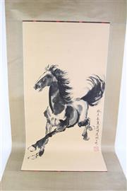 Sale 8802 - Lot 446 - Chinese Scroll Depicting a Horse