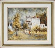 Sale 8828 - Lot 2004 - Wilmotte Williams, Paddington Street Scene, oil on canvas board, 37 x 44.5cm, signed lower left -