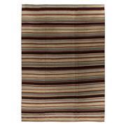 Sale 8912C - Lot 11 - Afghan Nomadic Stripe Flatweave Carpet, 410x290cm, Handspun Ghazni Wool
