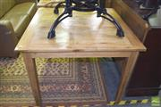 Sale 8390 - Lot 1174 - Oak Square Form Breakfast Table (100cm)