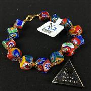 Sale 8402D - Lot 97 - Murano Millefiori Art Glass Bracelet (Length - 20cm)