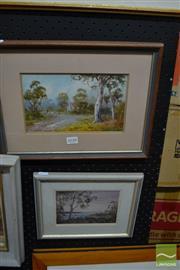 Sale 8464 - Lot 2038 - 2 Framed Watercolours; signed W. Lindley & Diana Watson