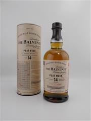 Sale 8514 - Lot 1709 - 1x 2002 The Balvenie Distillery 14YO Peat Week Single Malt Scotch Whisky - 48.3% ABV, 700ml in canister