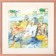 Sale 8517A - Lot 87 - Bramasto - Balinese Ladies, 1989 image size 53 x 53cm