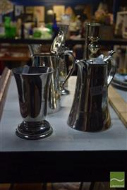 Sale 8518 - Lot 2324 - Box of Plated Wares inc Goblets