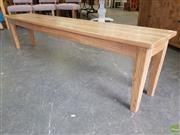 Sale 8601 - Lot 1524 - Oak Bench (H: 45 L: 194 W: 35cm)