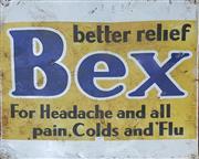 Sale 8765 - Lot 1097 - Vintage Metal Bex Sign