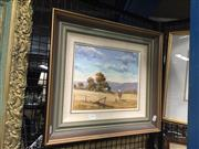 Sale 8767 - Lot 2015 - William Kennedy Mitchell, Home From Mustering  1988, oil on canvas board, frame size: 43 x 48cm signed lower left