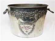 Sale 8770A - Lot 6 - A vintage polished pewter Moet & Chandon Dom Perignon multi bottle champagne bucket 23 x 30 cm