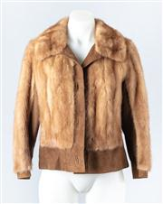 Sale 8828F - Lot 19 - An Autumn Haze Mink And Suede Blouson Jacket By Hammerman Furs, Size Small/Medium