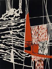 Sale 8980A - Lot 5100 - Una Foster (1912 - 1996) - To Windward, 1983 40 x 30 cm (frame: 71 x 50 x 3 cm)