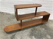 Sale 9059 - Lot 1056 - Vintage Stepside Bookcase (h:61 x w:120 x d:21cm)