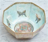 Sale 9090H - Lot 51 - An octagonal Wedgwood fairyland lustre bowl, Diameter 18cm