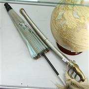 Sale 8336 - Lot 97 - Sword in Sheath & a Parasol