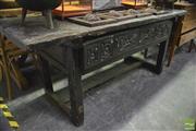 Sale 8361 - Lot 1086 - Rustic Hall Table