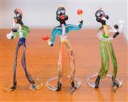 Sale 8369A - Lot 15 - Three Murano aventurine musicians