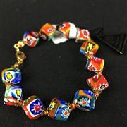 Sale 8402D - Lot 98 - Murano Millefiori Art Glass Bracelet (Length - 20cm)