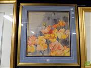 Sale 8407T - Lot 2066 - Artist Unknown - Poppies, watercolour (AF), unsigned, frame size: 66 x 62.5cm