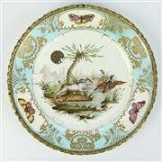 Sale 8412A - Lot 49 - Serves 19th Century Painted Plate diameter - 25cm