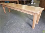 Sale 8601 - Lot 1269 - Oak Bench (H: 45 L: 155 W: 35cm)