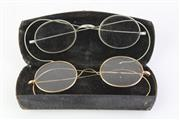 Sale 8775 - Lot 72 - A Vintage Rolled Gold Pair of Spectacles in Case, Together with Another Pair