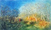 Sale 9013 - Lot 511 - David Boyd (1924 - 2011) - Orchard on the Edge of the Bush 53.5 x 90 cm (frame: 84 x 120 x 4 cm)