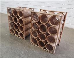 Sale 9137 - Lot 1041 - Pair of cane wine racks