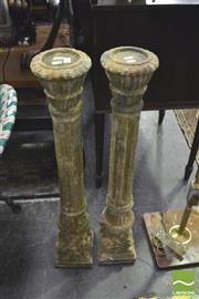 Sale 8352 - Lot 1018 - Pair Greko Roman Style Terra Cotta Pedestals