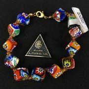 Sale 8402D - Lot 99 - Murano Millefiori Art Glass Bracelet (Length - 20cm)