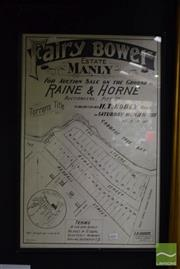 Sale 8509 - Lot 2091 - Poster of Fairy Bower Estate, Manly, 1901