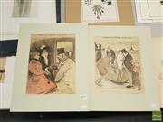Sale 8552 - Lot 2079 - Quantity of (2) Théophile Alexandre Steinlen Hand-Coloured Lithographs, 43 x 36cm (mount size)