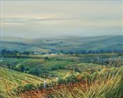 Sale 8597 - Lot 541 - Colleen M Parker (1944 - 2008) - Fading Light Near Greenosk, Barossa Valley SA 39 x 49.5cm