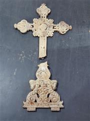 Sale 8765 - Lot 1066 - Cast Iron Cruxifix