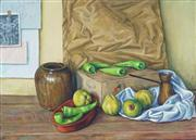Sale 8819 - Lot 2057 - Lindsay Churchland (1921 - 2010) - Still Life Study - Chillies & Quinces 70 x 96cm