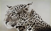Sale 8838 - Lot 535 - Peter Hickey (1943 - ) - Leopard Observing 121.5 x 182.5cm