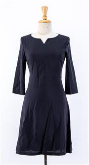 Sale 8891F - Lot 41 - A Hugo Boss black wool-blend corporate dress, size 8